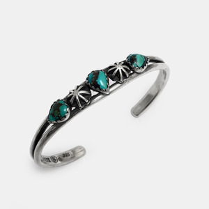 3 Turquoise Silver Bangle