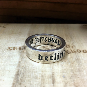 Custom Script Silver Ring 18호