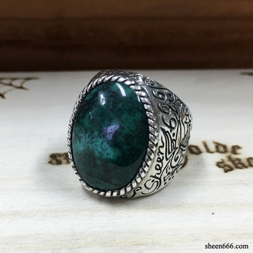 Sparrow Turquoise Silver Ring 17호