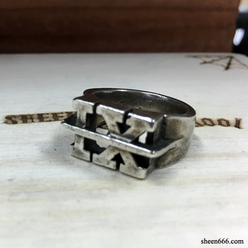 IX Crew X TripleSix Collaboration Silver Ring 12호